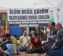 Açlık grevi eylemlerinde 30 Ekim çağrısı