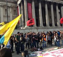 Londra'dan Taksim'e destek eylemi(Yenilendi)