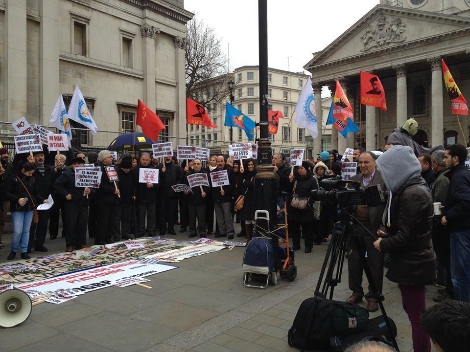 Suriye'deki Alevi Katliamı Londra'da Protesto Edildi