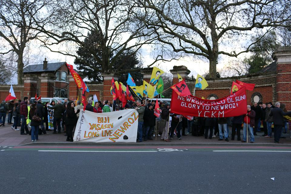 Londra'da Newroz yürüyüşü yapıldı